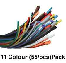 Heat Shrink Tubing 55 x 11 Colours Tube Sleeving Pack