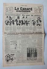 ANCIEN JOURNAL -  LE CANARD ENCHAINE N° 1722 DU 21 OCTOBRE 1953  *
