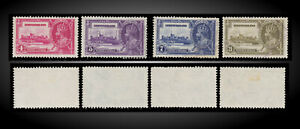 1935 NEWFOUNDLAND SILVER JUBILEE ISSUE LIGHT USED  SCT.226-229 SG.250-253