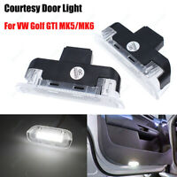2Pcs For VW Passat Scirocco Golf MK6 T5 LED Footwell Door Courtesy Luggage Light