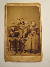 Mr & Mrs Eckert? with 5 children of dogern? - Portrait/CDV