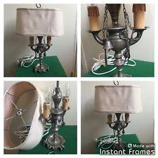 Ancienne Lampe Bouillotte De Table Bureau Chevet Salon Années 50 / 60 Vintage