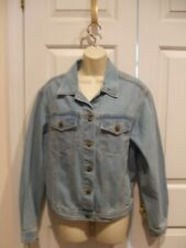 New Vintage Forenza Denim Jean Jacket Size Women's Button Front 4 Pockets med