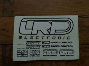 Vintage Radio Control Car/Buggy LRP Electronics Decal Sheet-White-Look!