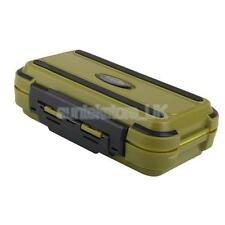 100% Waterproof Fishing Tackle Lure Baits Hook Storage Box case Army Green