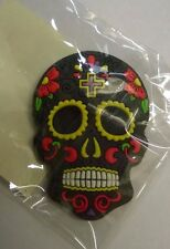 Candy Skull Day of the Dead Mexican Fridge Magnet Black