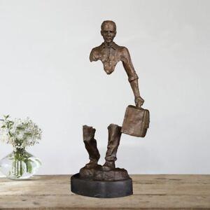 Bronze Artist Art Statue Sculpture Walking Man Figurine Decor Collectible Gift