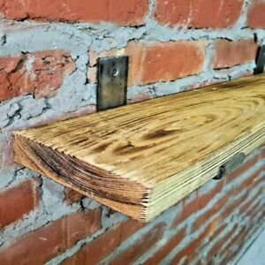 Shelf-Scaffold Board Rustic Shelves Industrial Solid Wood Brackets Vintage SIZES