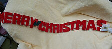 Padded Merry Christmas Garland 36 Inches