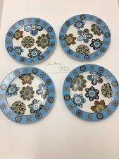 """Vera Bradley Bali Blue (4) 8"""" Round Plates Dishes Matches Mugs Totes Bags New"""