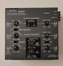 Clarion MCD360 2/3-Way 6-Channel Electronic Crossover w/ 5-Volt RCA Outputs