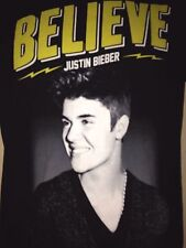 JUSTIN BIEBER BELIEVE LIVE 2013 TOUR SMALL T SHIRT POP OUT OF PRINT