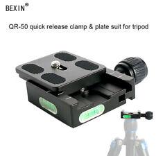 Metal QR50 Camera Quick Release Plate Clamp + PU50 Plate For Arca Swiss Tripod