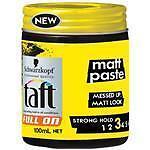 Schwartzkopf Taft Full On Matt Paste 100ml: Strong Hold Rough Texture Men's Hair