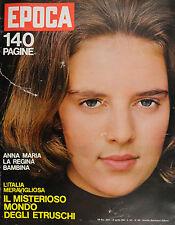 EPOCA N°707/ 12/APR/1964 *ANNA MARIA LA REGINA BAMBINA- IL MISTERIOSO MONDO. .