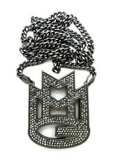 """RICK ROSS MMG PENDANT WITH 6mm 36"""" CUBAN CHAIN"""