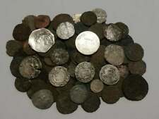 Huge lot 119 Medieval coins (XII-XVII) century, crusader hammered silver bronze