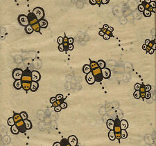 Buzzing Bumble Bee Tissue Paper on Kraft background # 265 ~ 10 Large Sheets