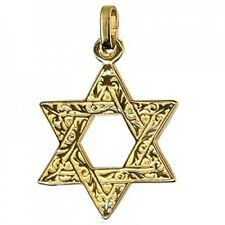 20% SALE! - Genuine 9Ct YG Large Star Of David Charm - RRP $299.95