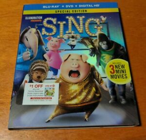 Sing Special Edition Blu-ray Matthew McConaughey Reese Witherspoon John C Reilly