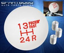 For Bmw Shift Knob 5-Speed Gear Pattern Vintage Round Ball Style M10 M12 Set Red