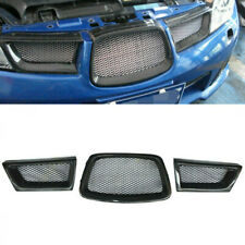 Carbon Fiber Front Mesh Grill Grille Set for Subaru Impreza 9th WRX/STI 06-07 FT