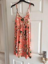 ASOS Ladies Dress Size 8 Peach Floral Lace Up Back