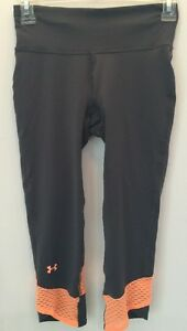 UNDER ARMOUR WOMENS HEAT GEAR RUNNING COMPRESSION CAPRI PANTS SZ XS 1243045 NWT