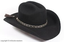 Horse Hair Hat Band for Cowboy Hats Black & Natural with Five Strands 2 Tassels