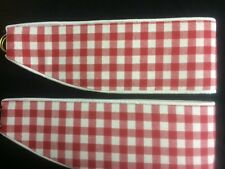 "LAURA ASHLEY NEW 1 Pr Tie-backs  GINGHAM SCARLET (RED) 26"" PIPED TOP AND BOTTOM"