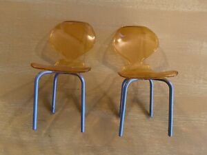 Set Of Two Doll Chairs Mid-Century Style