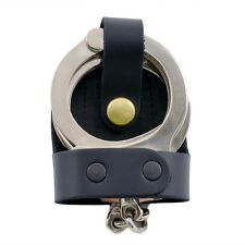 Perfect Fit Leather Bikini Handcuff Case Brass Snap Belt Slide Standard Cuffs