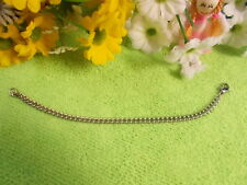 STAINLESS STEEL ROUNDED CURB LINK BRACELET - ST/ST PARROT CLASP - 18 cm  4mm# 36