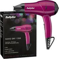 Babyliss Nano Voyage Mini Sèche-cheveux 1200W 2 Chaleur & Vitesse