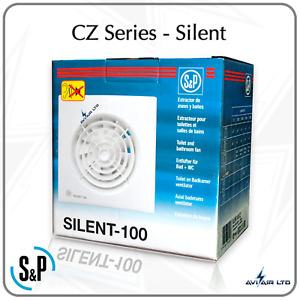 SOLER & PALAU SILENT-100 CZ  BATHROOM EXTRACT FANS