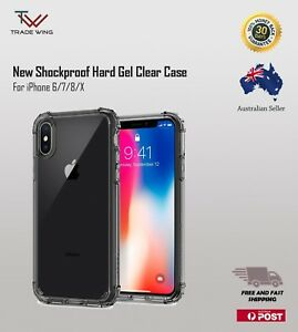 New Shockproof Tough for iPhone 6/7/8 X Hard Gel Clear Case Cover for Apple