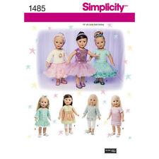 "Simplicity Sewing Pattern 1485 Dolls Clothes Ballet Tutu Dress Skirt Top 18 """