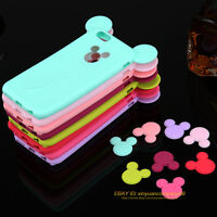 3D Cute Cartoon Ear Soft Silicone Gel Case Cover For Apple iPhone 5 SE 6 6s Plus