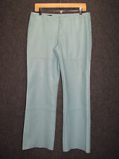 DONALD J. PLINER Italy Soft Leather Light Blue Dress Pants SZ 8
