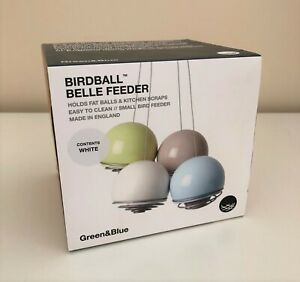 Hanging Bird Feeder for Small Birds, Birdball Belle, Easy Clean, White Colour
