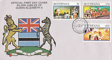BOTSWANA 1977 SILVER JUBILEE OFFICIAL FIRST DAY COVER FDI CANCEL