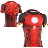 Under Armour IRON MAN Mighty Avengers Alter Ego Compression Tee Shirt MEN'S