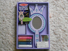 NEW  Melissa and Doug Wooden Princess Mirror Decorate Your Own Purple Blue *