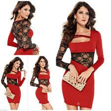 Acrylic Round Neck Long Sleeve Mini Dresses for Women