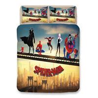 Spider-Man Design Bedding Set 3PC Of Duvet Cover Pillowcase Single Double King