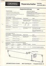 Grundig riparazione aiutante Elite-Boy Automatic 208a service manual istruzioni b1288