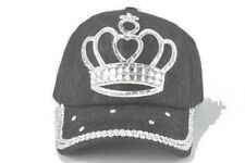 Ladies Rhinestone Ball Cap with Queen's Crown - Adjustable Size -  Free Shipping