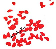 RED VALENTINE HEART SPRINKLE QUINS PARTY CAKE POP COOKIE CUPCAKE DECORATION 2 OZ