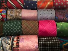 Lot 50 SIlk Neckties Craft Quilting Cutter Job Suit Wear Tie Lots