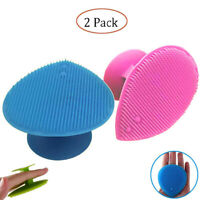 Silicone Face Cleaning Pad Brush Exfoliating Skin Pore Scrubber Cleanser 2 Pack